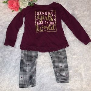 $5 SALE Toddler girls outfit size 2T